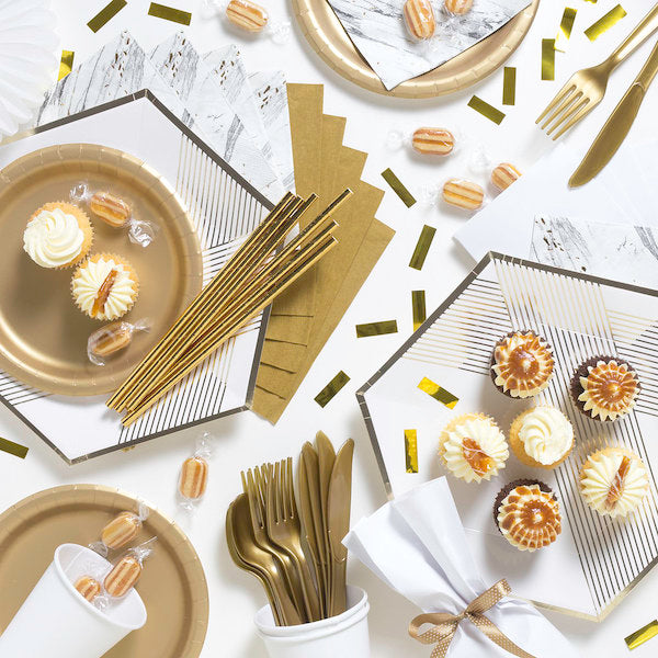 Gold and white party supplies online | Party Kits and Party Packs Australia