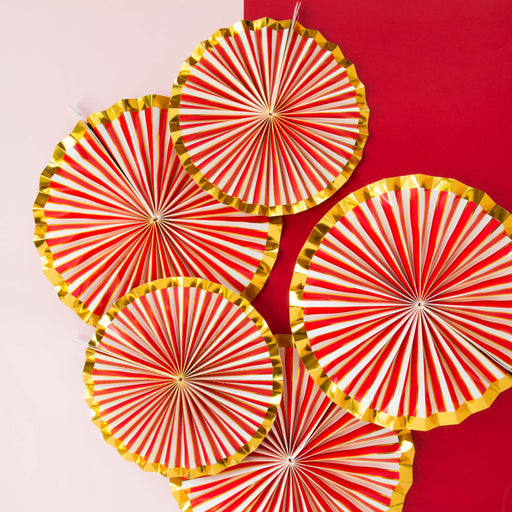 Red and gold foil candy cane stripe Christmas Decorations online Australia