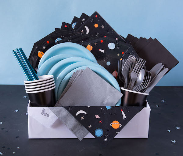 Space themed birthday party pack online Australia from Party Kit Company