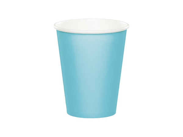 Pastel blue paper party cups | Superhero party in a box online Australia
