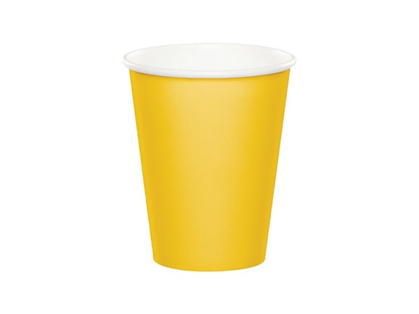 Yellow paper party cups | Mexican Fiesta instant party pack from Party Kit Co.