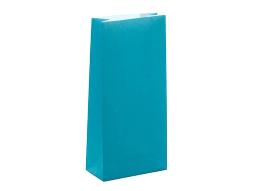 Turquoise aqua paper party bags from Party Kit Company