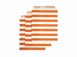 Orange paper party bags online | Moana themed party supplies from Party Kit Company