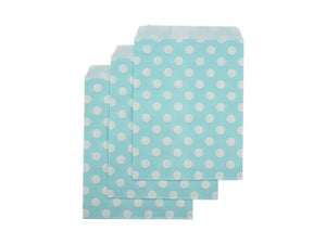 Pastel blue party supplies Australia | Paper party bags