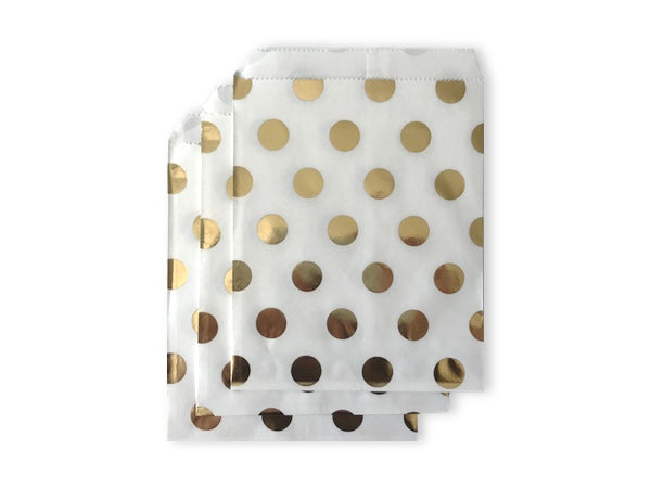 Gold foil polka dot paper party bags online