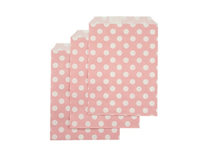 Pastel pink polka dot party bags online Australia from Party Kit Company