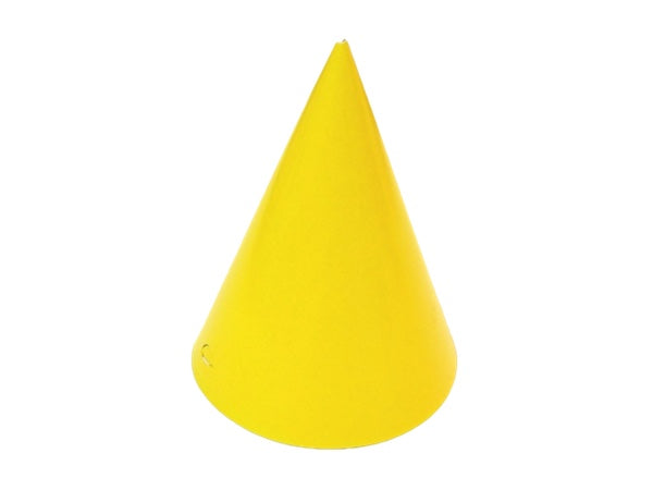 Yellow kids party hats from Party Kit Co. | Discount party supplies online Australia
