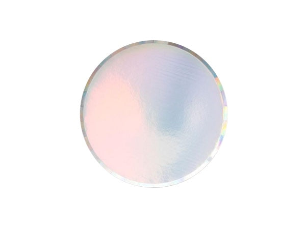 Iridescent paper party cake plates from Party Kit Company online party store Australia