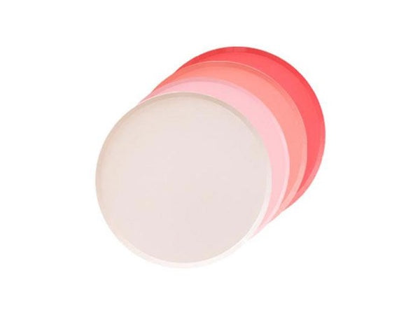 Coral, blush and pastel pink party plates | Baby shower party supplies online Australia