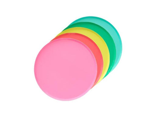 Rainbow mix paper party plates | Birthday party supplies online Australia
