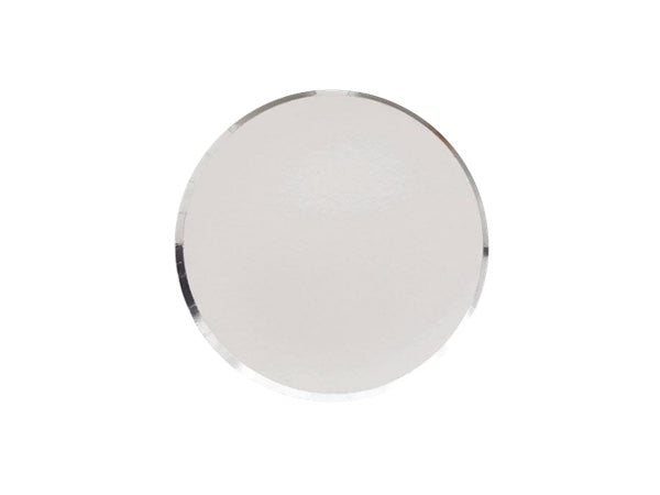 Silver metallic paper party plates | Boutique birthday party supplies online Australia