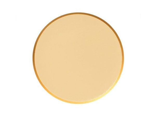 Shiny metallic gold foil party plates | Engagement party supplies online Australia
