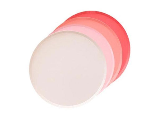 Coral, blush and pastel pink party plates | Birthday party supplies online Australia
