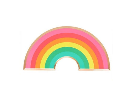 Rainbow and gold shaped party plates from Oh Happy Day | Birthday party supplies online Australia