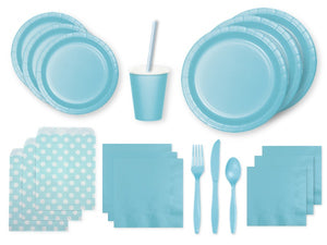 Pastel blue party supplies online | Party Kit Company Sydney
