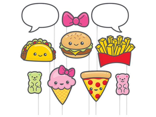 Tasty treats pizza taco party photo booth props - party decorations online Australia