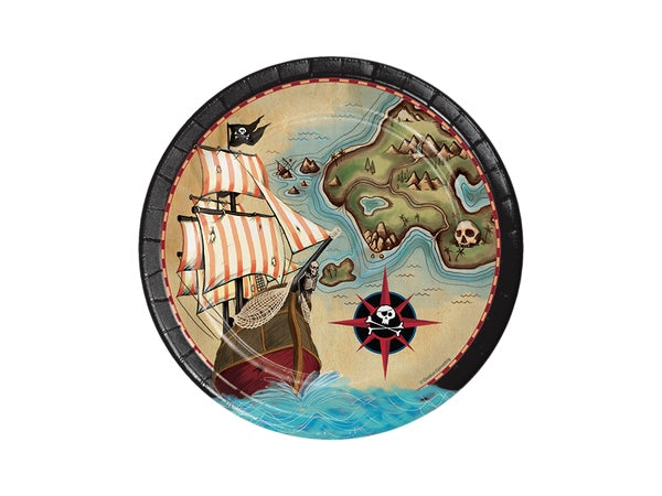 Pirate party plates | Pirate themed party supplies online Australia