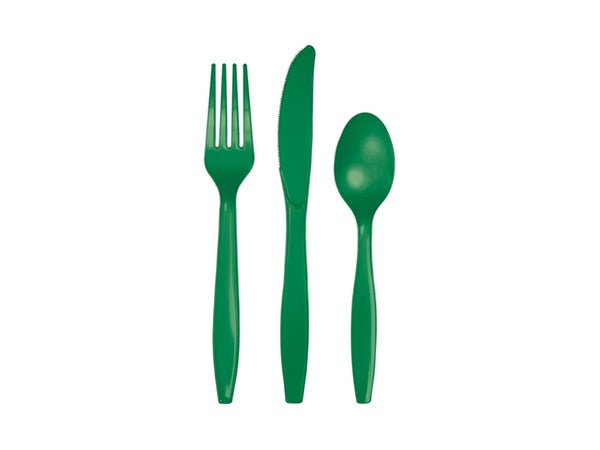 Green party cutlery | Party Supplies Afterpay online Australia