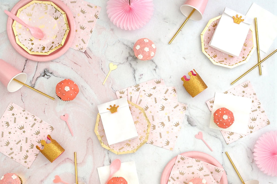 Sweet pink princess party supplies for birthdays and Christenings online