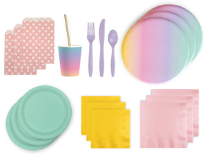 Rainbow party pack from Party Kit Company | Party Decorations Supplies online Australia