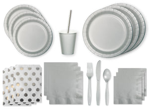 Silver party box from Party Kit Company | Online party supplies decorations