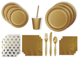 Gold party supplies online | Party Box Australia from Party Kit Company