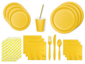 Yellow party supplies online Sydney - yellow party pack from Party Kit Co.
