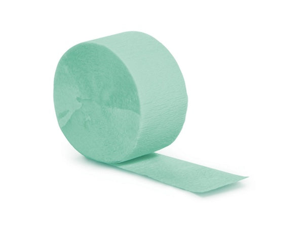 Fresh mint green pastel crepe streamer - online party supplies decorations Australia