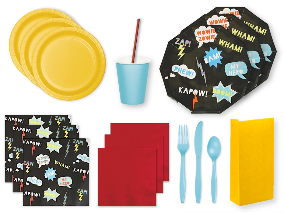 Superhero party supplies in a Party Pack | Party Kit Company online store Australia