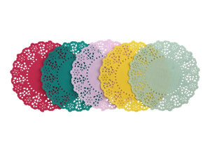 Mixed paper doilies from Party Kit Company online
