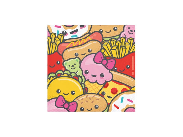 Tasty treats napkins, perfect for a PIZZA themed party! Kids party supplies online Australia