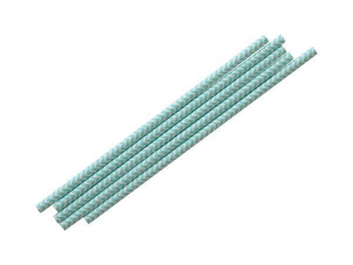Party Kit Company - Tableware Straws Baby Blue Chevron Straw (25pk)