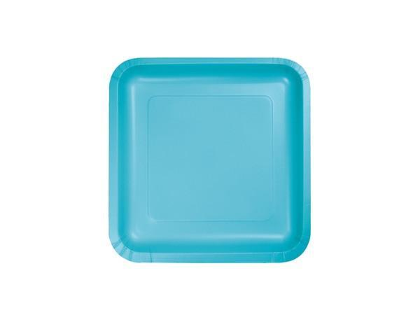 Party Kit Company - Tableware Plates Bermuda Blue Square Cake plates