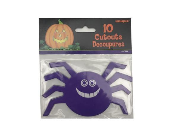 Party Kit Company - Decorations Confetti and More Black and purple spider cut-outs (10pk)