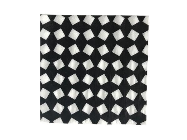 Party Kit Company - Tableware Napkins Black and White Geo Lunch Napkins (20pk)