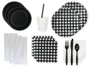Party Kit Company Party Kits BLACK AND WHITE PARTY KIT
