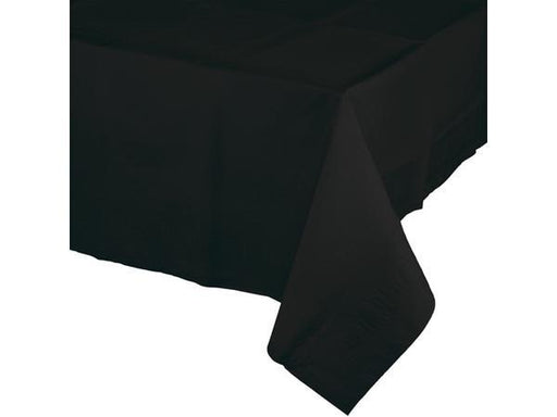Party Kit Company - Tableware Tablecloths Black Black Plastic Lined Party Tablecloth