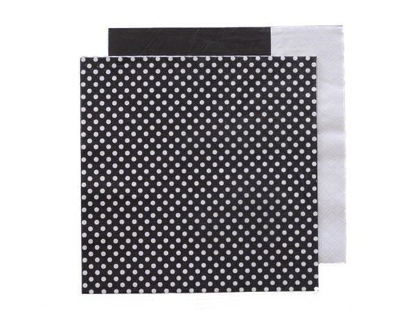 Party Kit Company - Tableware Napkins Black/White Spot Lunch napkins (20pk)