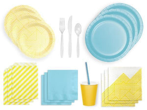Party Kit Company Party Kits BLUE AND YELLOW PARTY KIT