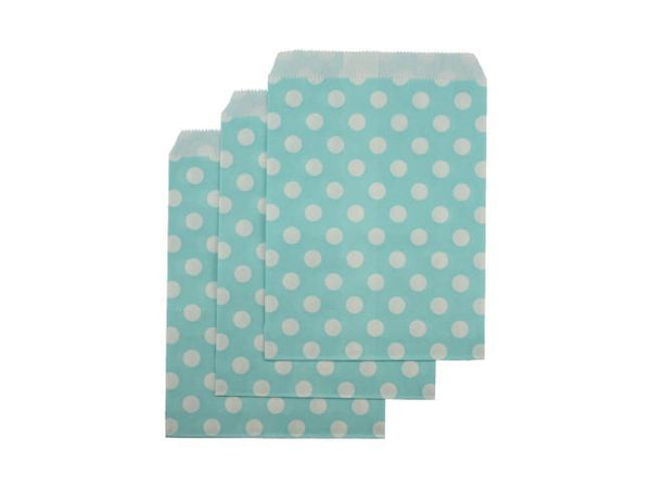 Party Kit Company - Tableware Favour Bags Blue Polka Dot Paper Party Bags (25pk)