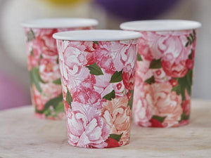 Party Kit Company - Tableware Cups Boho Floral Party Cups (8pk)