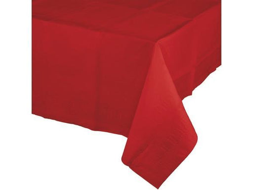 Party Kit Company - Tableware Tablecloths Bright Red Plastic Lined Party Tablecloth