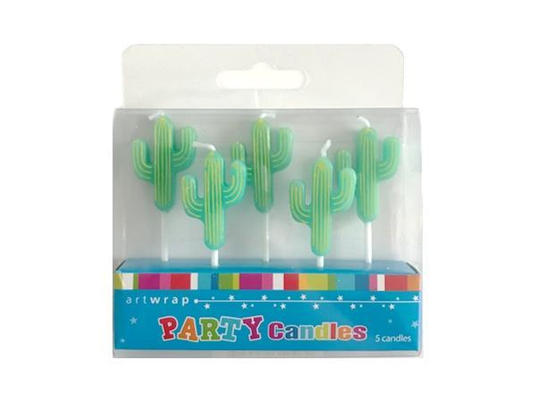 Party Kit Company - Decorations Baking and Candles Cactus Candles (5pk)