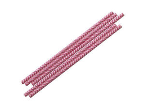 Party Kit Company - Tableware Straws Candy Pink Chevron Straw (25pk)