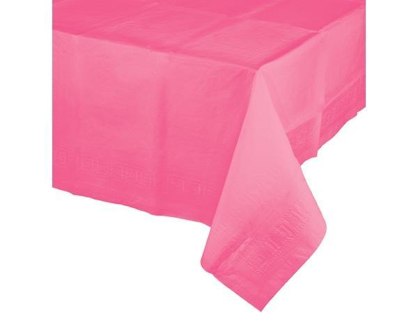 Party Kit Company - Tableware Tablecloths Candy Pink Plastic Lined Party Tablecloth