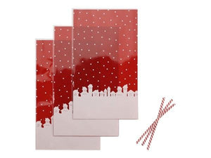Party Kit Company - Tableware Favour Bags Christmas Cellophane Party Bags (12pk)