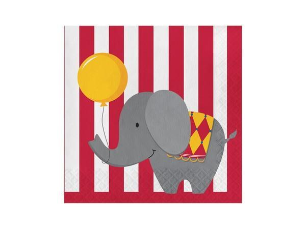 Party Kit Company - Tableware Napkins Circus Lunch napkins (16pk)