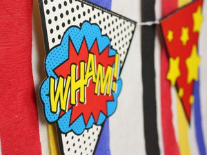 Party Kit Company - Decorations Garlands and Bunting Comic Superhero Party Bunting