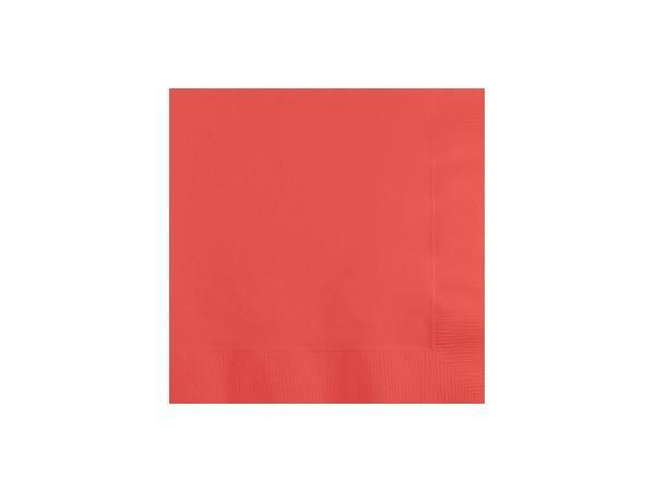 Party Kit Company - Tableware Napkins Coral Pink Cocktail Napkins (50pk)