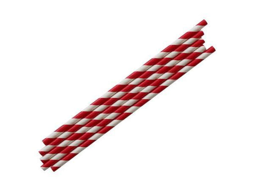 Party Kit Company - Tableware Straws Diagonal stripe straws (25pk)